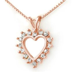 1.0 CTW Certified VS/SI Diamond Pendant 18K Rose Gold - REF-76K4W - 13383