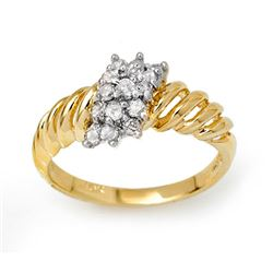 0.25 CTW Certified VS/SI Diamond Ring 10K Yellow Gold - REF-26T5M - 14399