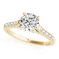 0.97 CTW Certified VS/SI Diamond Solitaire Ring 18K Yellow Gold - REF-187F3N - 27581