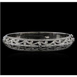 18KT White Gold 1.68 ctw Diamond Bangle Bracelet