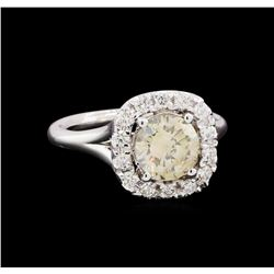 1.98 ctw Diamond Ring - 14KT White Gold