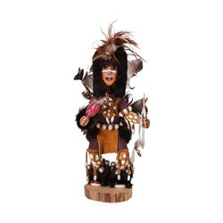 "Signed Grant Parkett Original Art 16"" Hopi Katsina Dancer Statue"