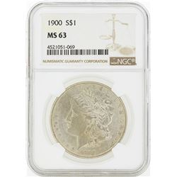 1900 MS63 NGC Morgan Silver Dollar