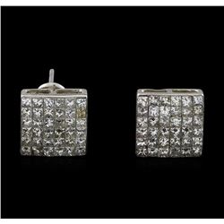 2.00 ctw Diamond Earrings - 14KT White Gold