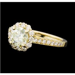 1.72 ctw Diamond Ring - 14KT Yellow Gold