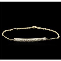 0.55 ctw Diamond Bracelet - 14KT Yellow Gold