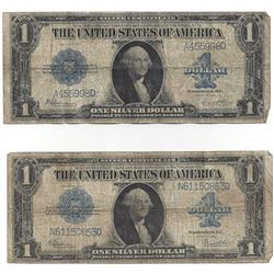 1923 $1 Large Silver Certificate Speelman / White Notes Lot of 2