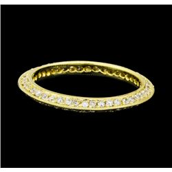 1.00 ctw Diamond Eternity Ring - 14KT Yellow Gold
