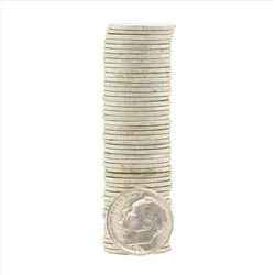 Roll of (50) 1955-S Brilliant Uncirculated Roosevelt Dimes