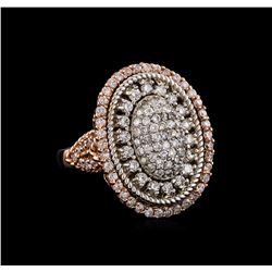 14KT Rose Gold 1.43 ctw Diamond Ring