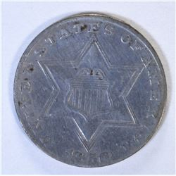 1856 3-CENT SILVER XF