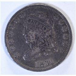 1831 CAPPED BUST HALF DIME, VF/XF