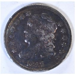 1837 CAPPED BUST HALF DIME, VF