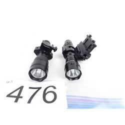 2 Tactical lights (1 green, 1 white) w/ mounts