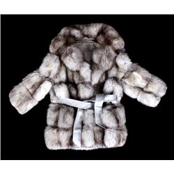 Silver White Fox Fur Coat; Robinson's