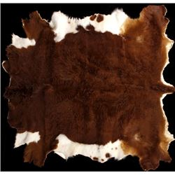 Tanned Hereford Cow Hide Rug