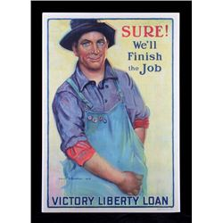 Original WWI Victory Liberty Loan Poster 1918