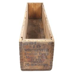 Original Winchester Model 1894 Wooden Shipping Box