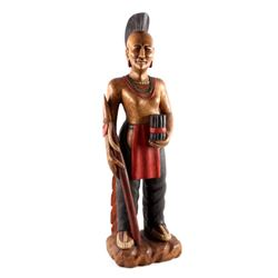Wooden Carved Cigar Store Indian