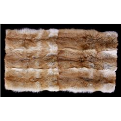 Prime Red Coyote Silk Lined Throw Blanket