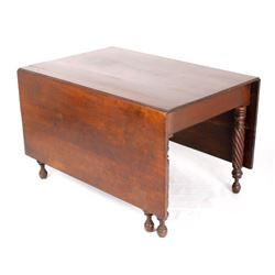 Federal Carved Double Drop Leaf Table c. 1900