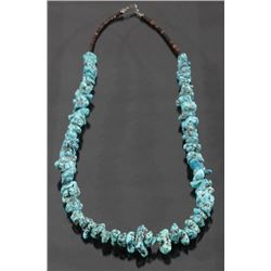 Navajo Morenci Turquoise & Heishe Bead Necklace