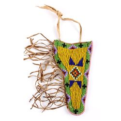 Sioux Indian Beaded Hide SAA Holster