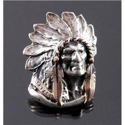 Jaqueline Smiley Sterling Silver Indian Chief Ring