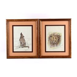 Original G.C. Wentworth Pen and Ink Sketches
