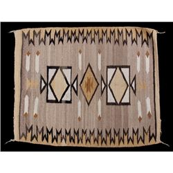 Navajo Two Grey Hills Pattern Wool Rug