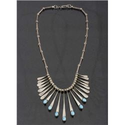 Navajo Multi-Drop Turquoise Charm Necklace