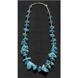 Navajo Lone Mountain Turquoise & Heishe Necklace