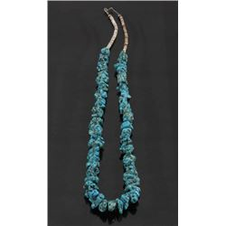 Navajo Morenci Turquoise Nugget & Heishe Necklace