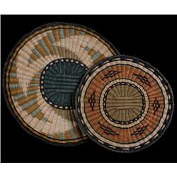 Hopi Native American Flat Weave Polychrome Baskets