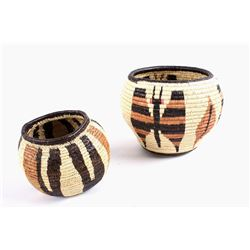 Hopi Indian Hand Woven Coil Baskets