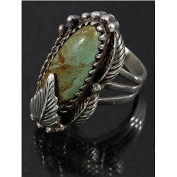Carol Felley Navajo Cripple Creek & Sterling Ring