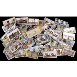 Collection of 66 Antique Stereoview Cards