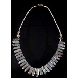 Sterling Silver and Mother Of Pearl Necklace