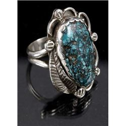 Navajo Sterling & Lone Mountain Turquoise Ring