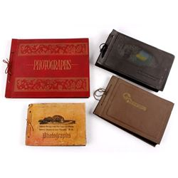 Collection of Antique Family Photo Albums c. 1900-