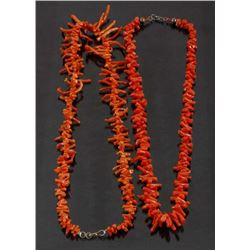 Red Chinese Branch Coral Necklaces (2)