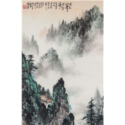 Guan Shanyue 1912-2000 Chinese Watercolour Roll