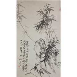 Zheng Banqiao 1693-1765 Chinese Ink  Paper Scroll