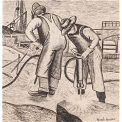 Mordi Gassner 1899-1995 American Ink on Paper