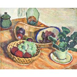 Dated 1975 Oil on Canvas Still Life Painting