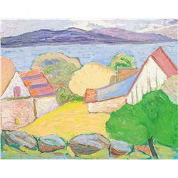 Rosen Oil on Canvas Landscape with Houses