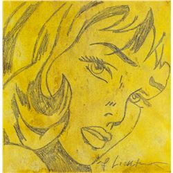 Roy Lichtenstein 1923-1997 US Pencil Pop Art Lady