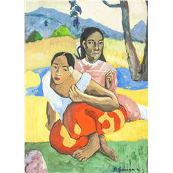 Paul Gauguin 1848-1903 Watercolour & Tempera COA