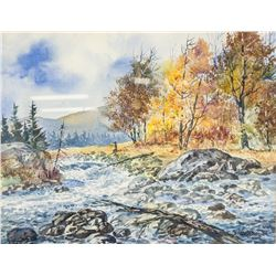 Ogden Pleissner 1905-1983 WC Autumn Hunting