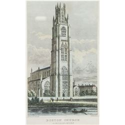 Boston Church Lithograph, England